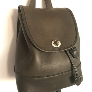 Vintage Coach Grey Small Backpack silver hardware